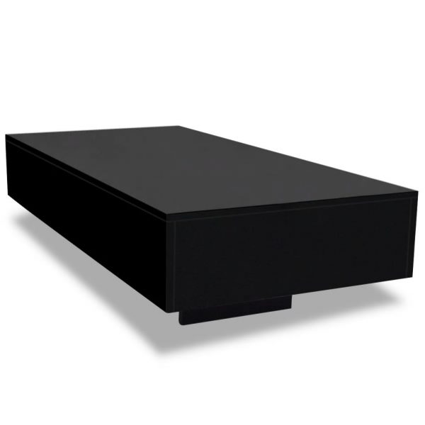 Coffee Table High Gloss Black 2