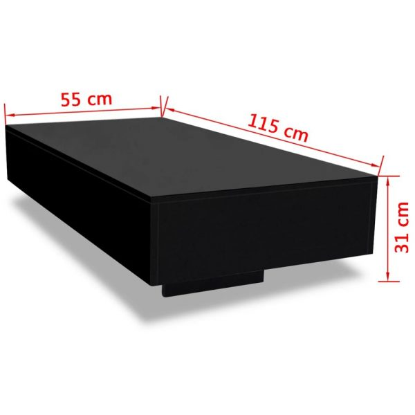 Coffee Table High Gloss Black 5