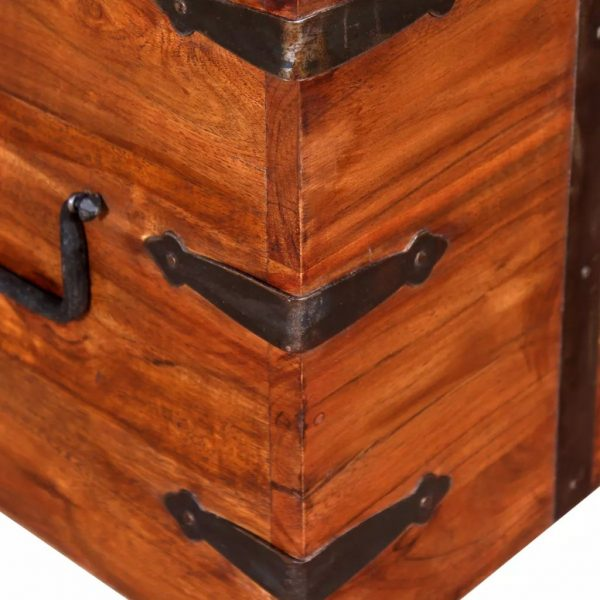 2 Piece Storage Chest Set Solid Wood 11
