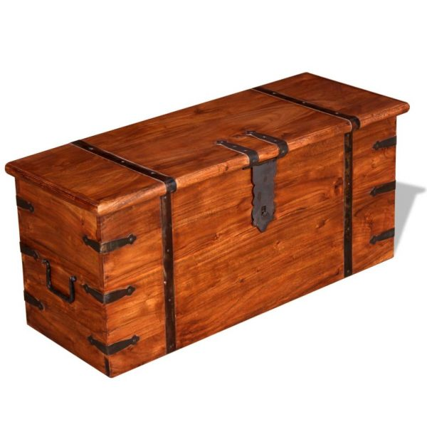 2 Piece Storage Chest Set Solid Wood 8