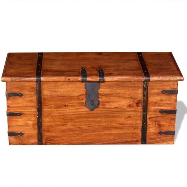 2 Piece Storage Chest Set Solid Wood 9