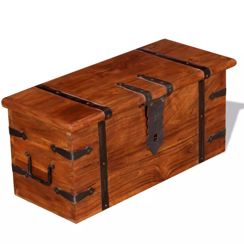 2 Piece Storage Chest Set Solid Wood 10