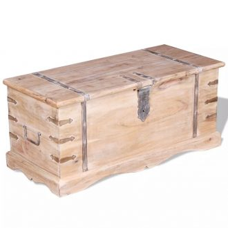 Storage Chest Solid Acacia Wood 1