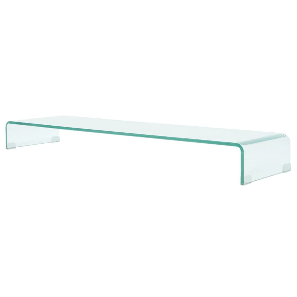 TV Stand/Monitor Riser Glass Clear 120x30x13 cm 1