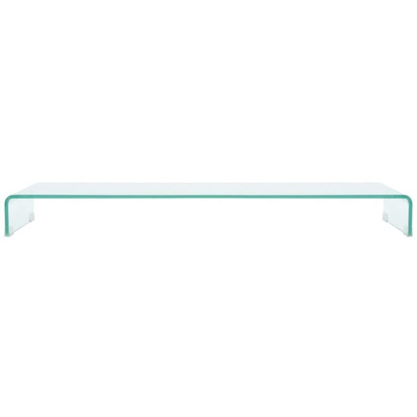 TV Stand/Monitor Riser Glass Clear 120x30x13 cm 2