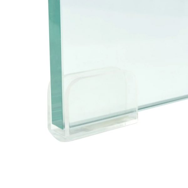 TV Stand/Monitor Riser Glass Clear 120x30x13 cm 4