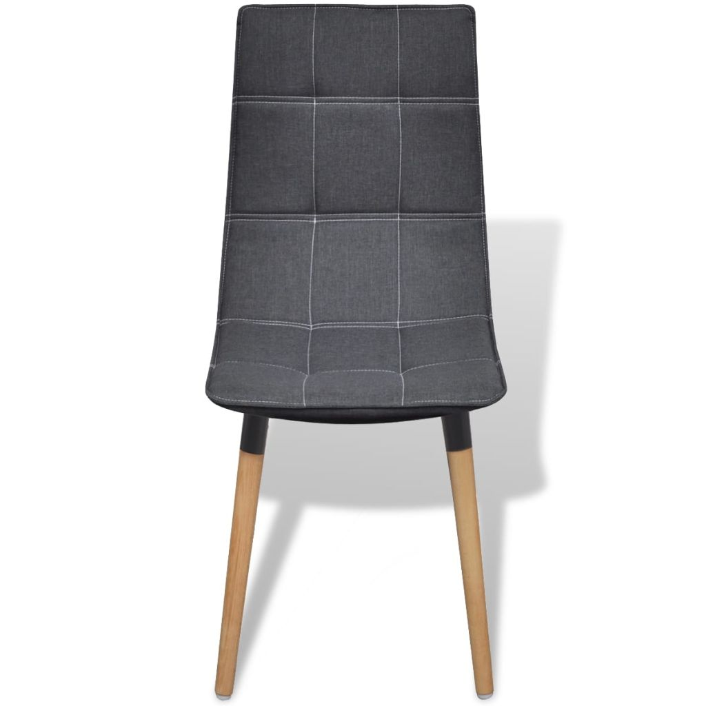 Dining Chairs 4 pcs Dark Grey Fabric 3