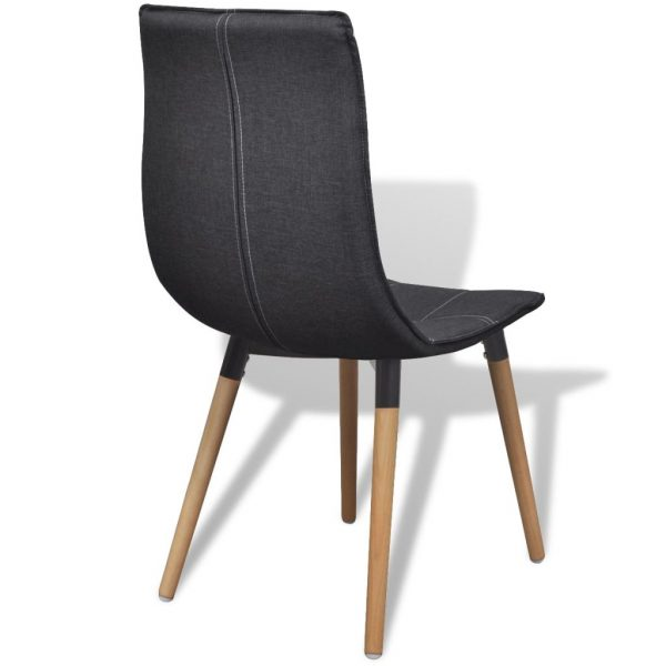 Dining Chairs 4 pcs Dark Grey Fabric 5