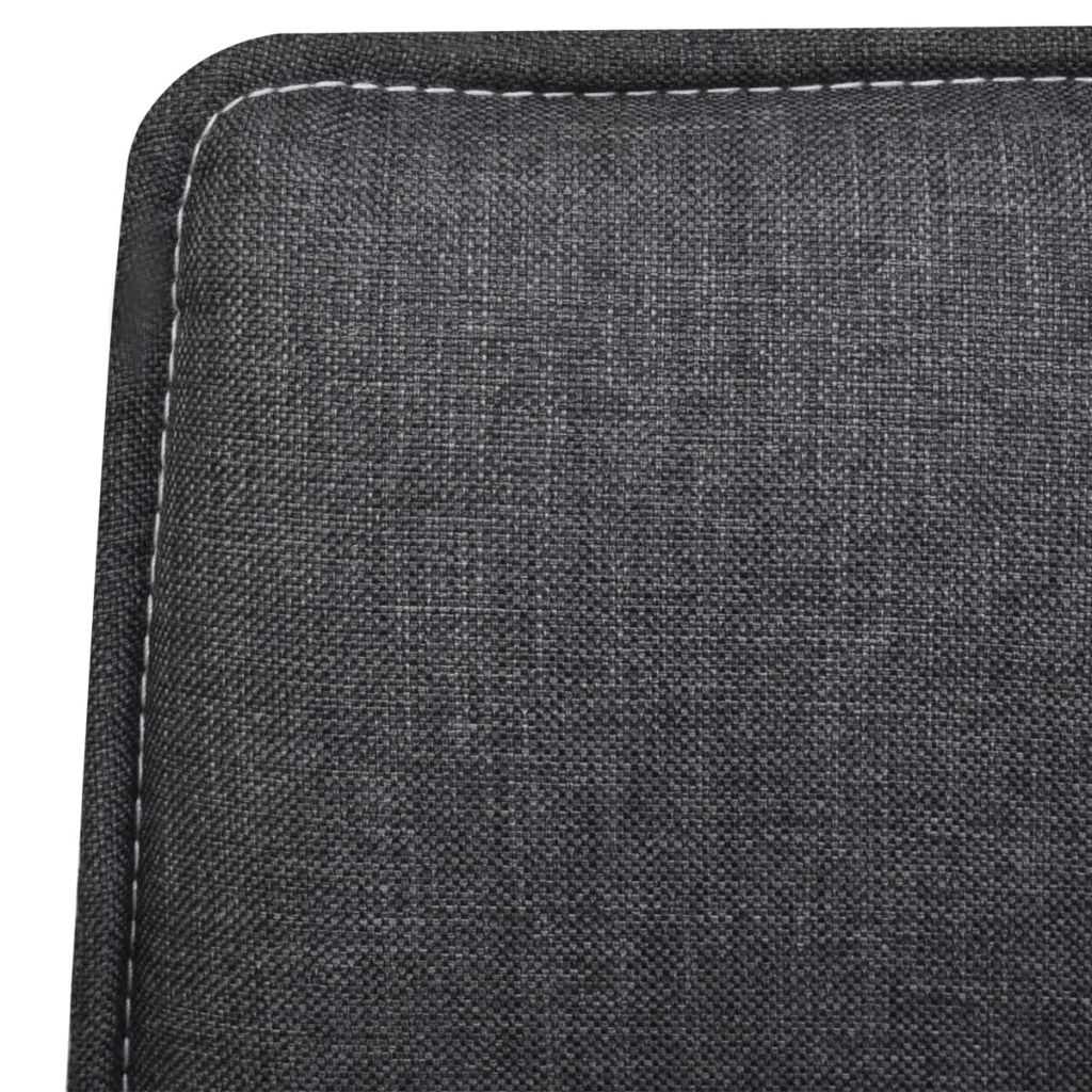 Dining Chairs 4 pcs Dark Grey Fabric 6