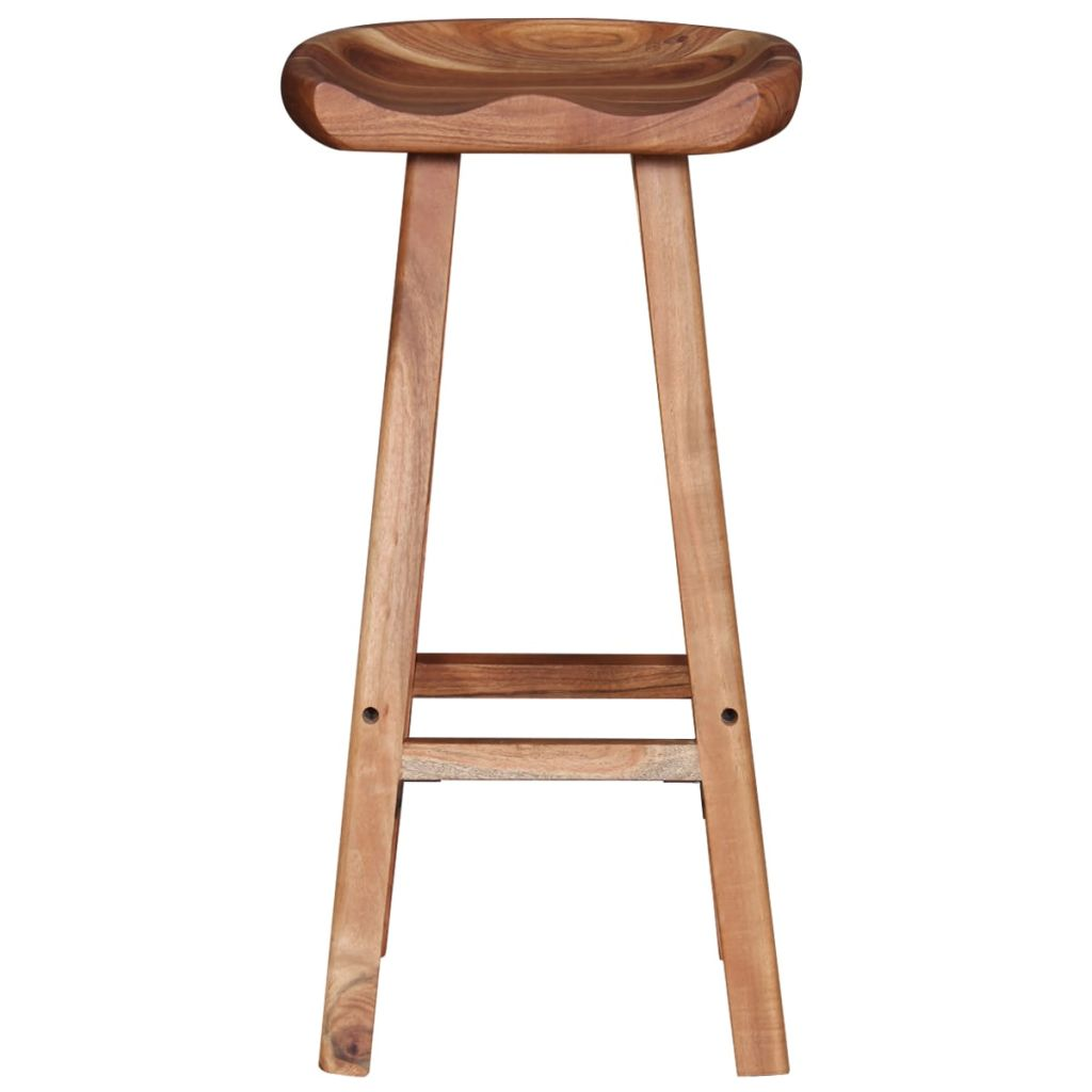 Bar Stools 2 pcs Solid Acacia Wood 6