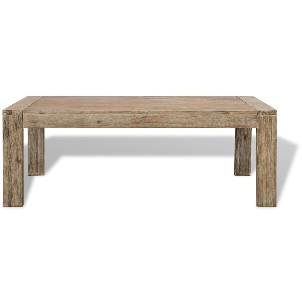 Coffee Table Solid Brushed Acacia Wood 110x60x40 cm 3