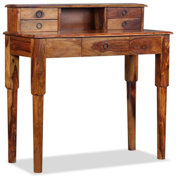 Writing Desk with 5 Drawers Solid Sheesham Wood 90x40x90 cm 3