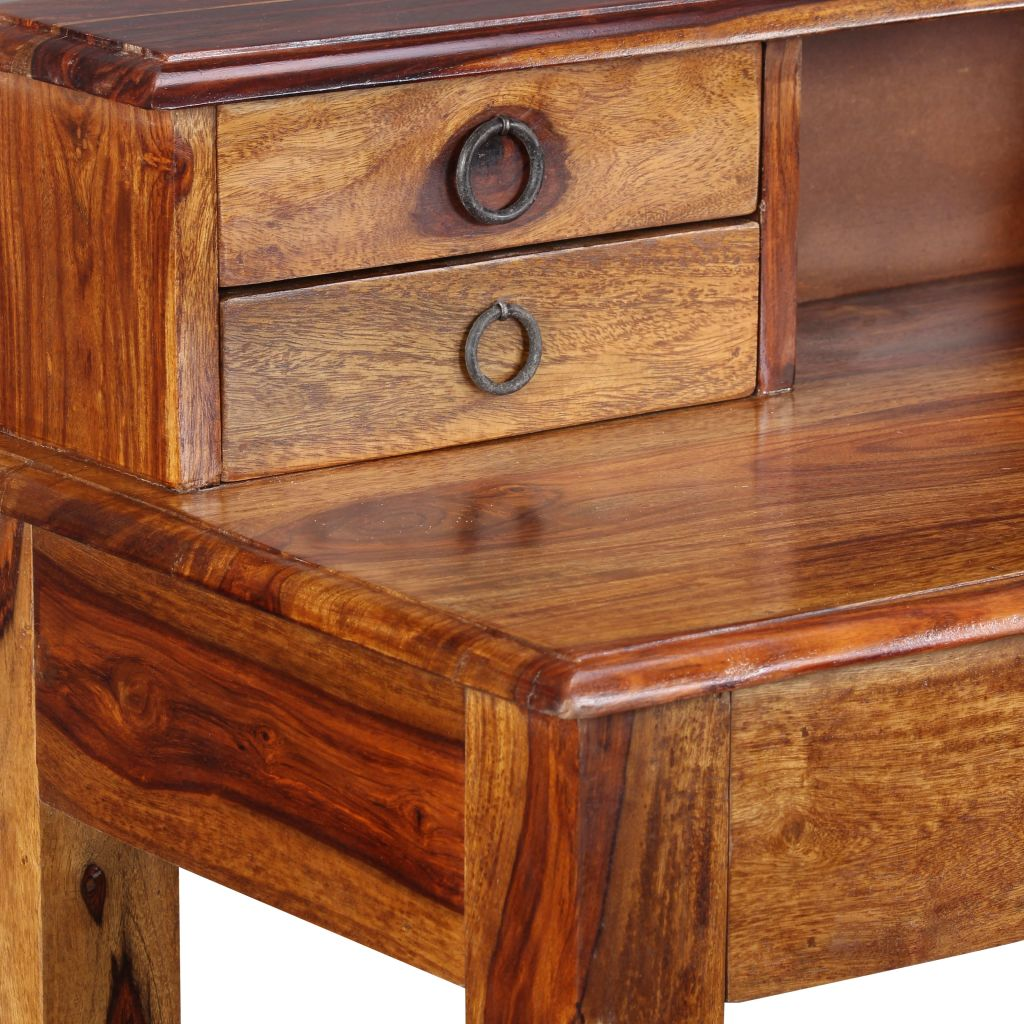 Writing Desk with 5 Drawers Solid Sheesham Wood 90x40x90 cm 7