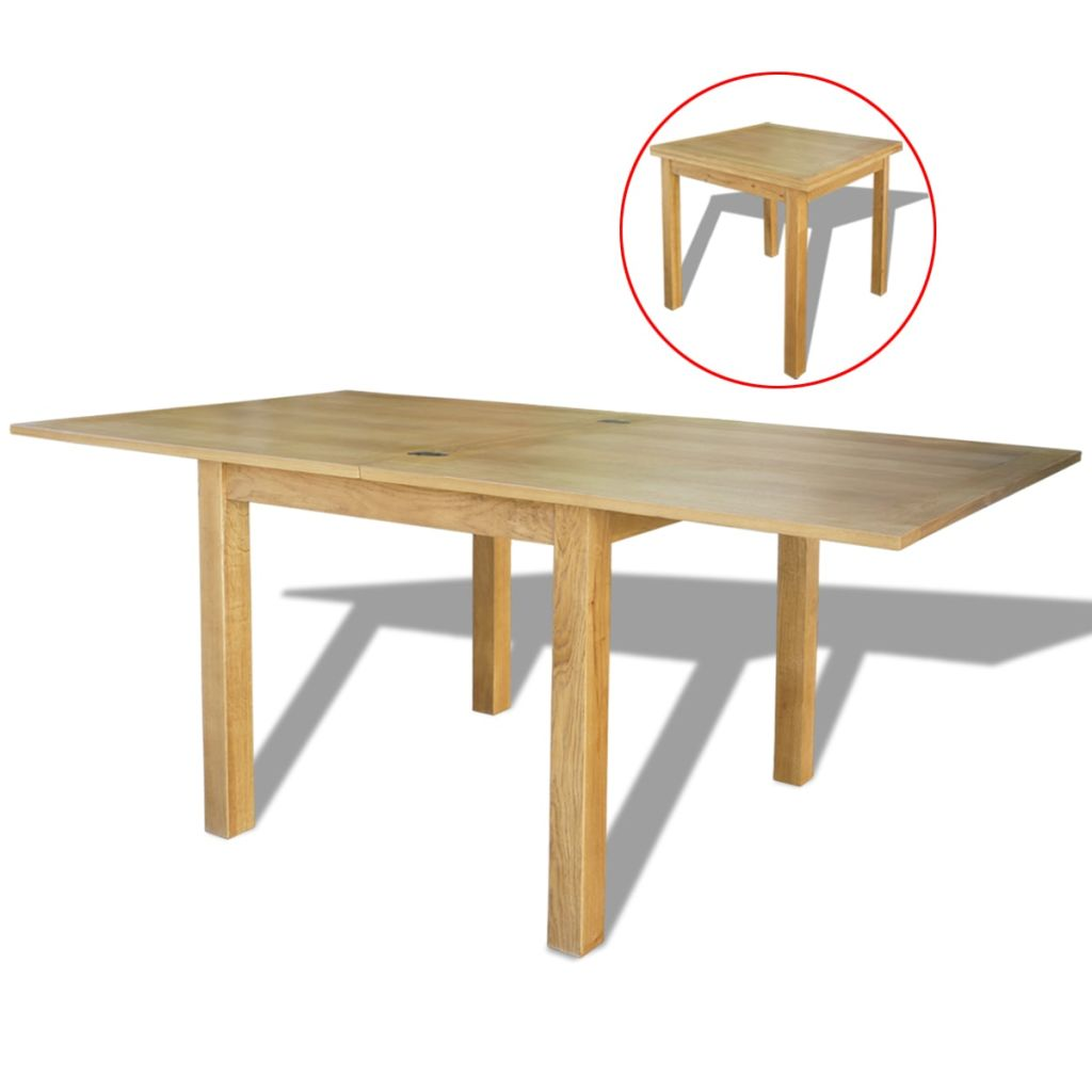 Extendable Table Oak 170x85x75 cm 1
