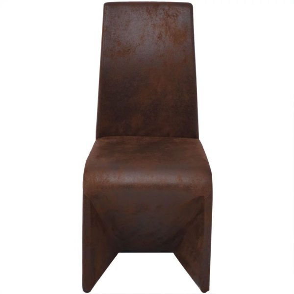 Dining Chairs 6 pcs Brown Fabric 3