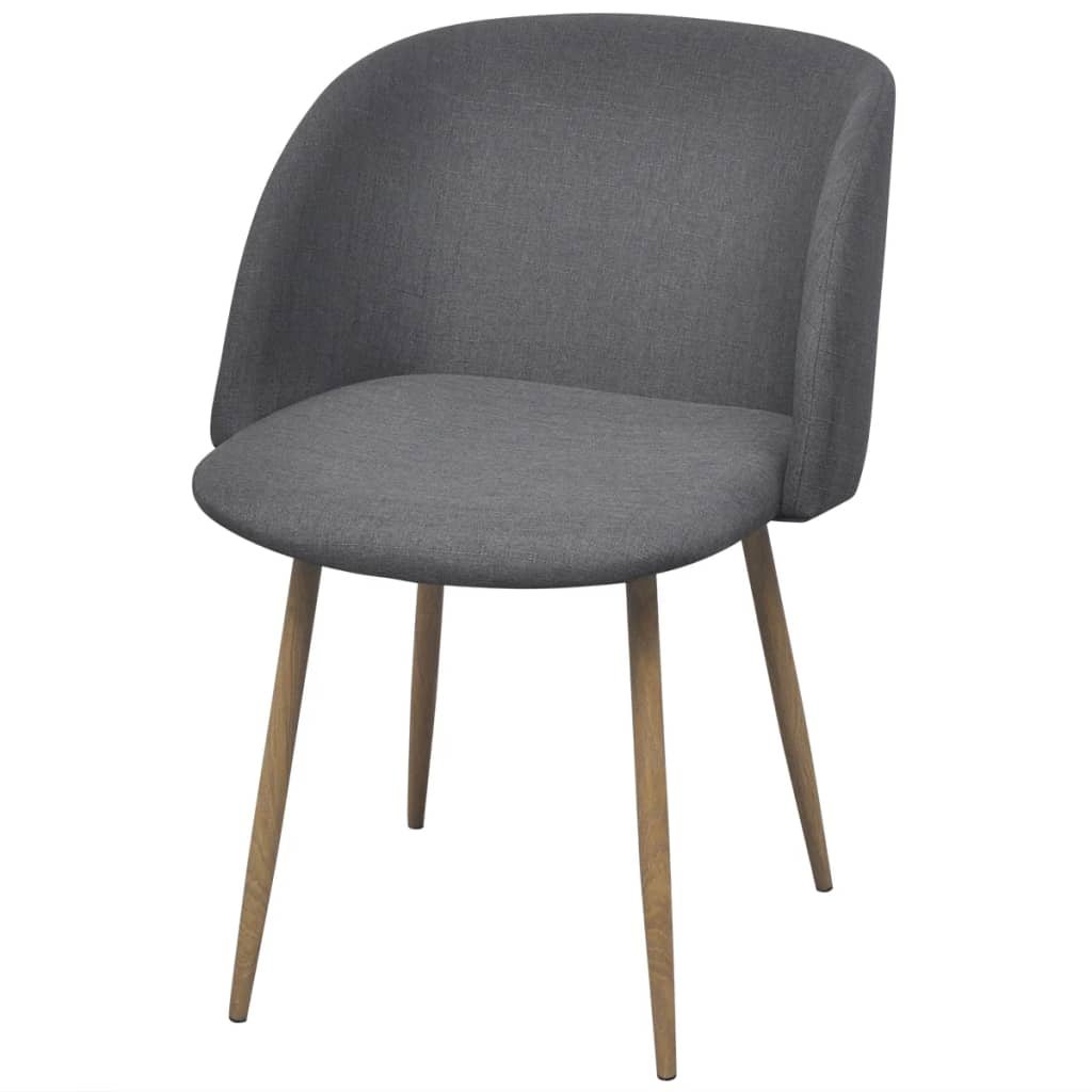 Dining Chairs 6 pcs Dark Grey Fabric 2
