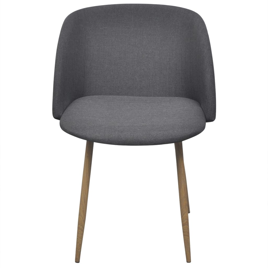 Dining Chairs 6 pcs Dark Grey Fabric 3