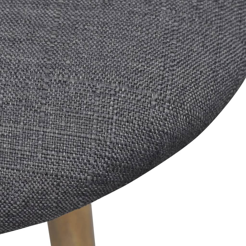 Dining Chairs 6 pcs Dark Grey Fabric 6