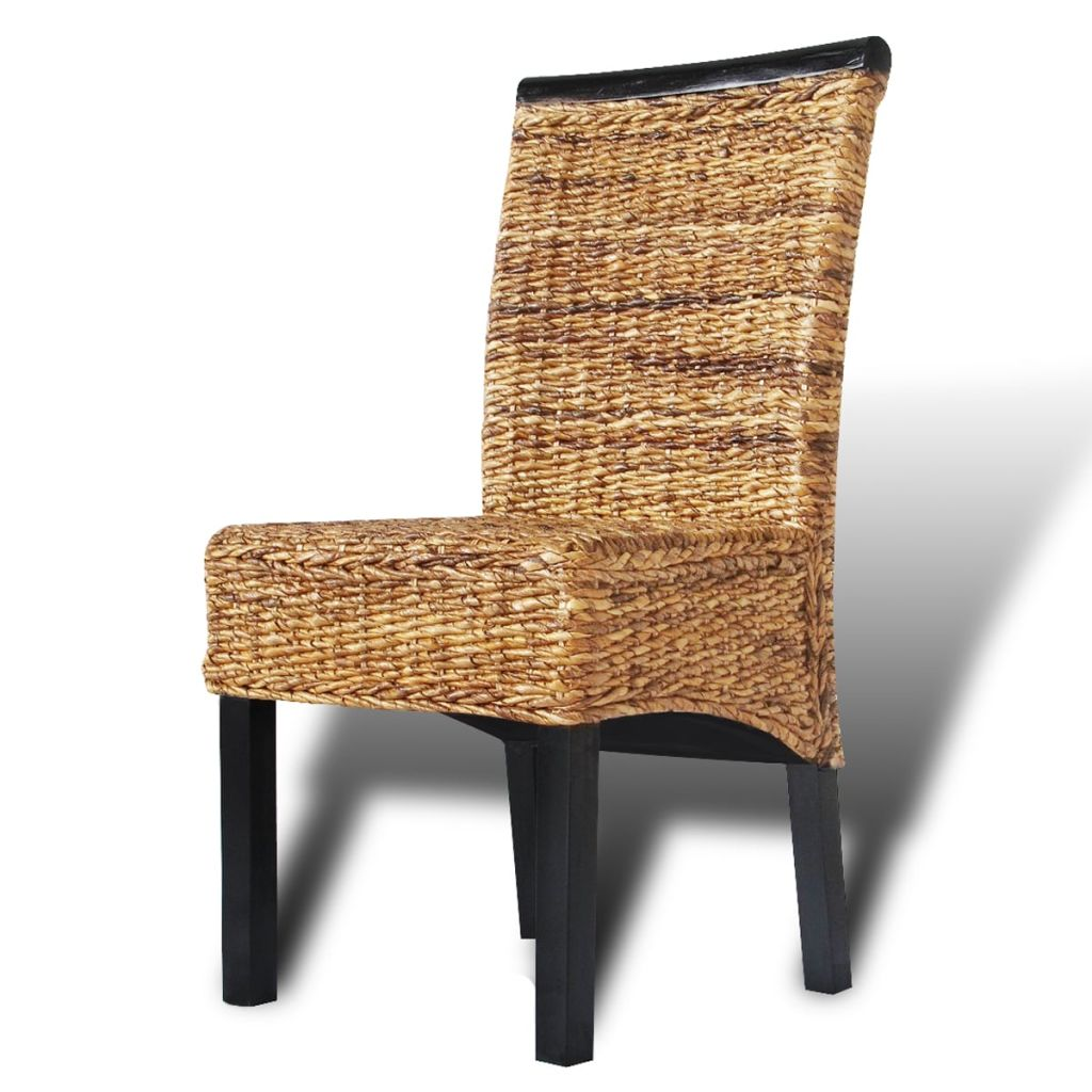 Dining Chairs 6 pcs Abaca and Solid Mango Wood 4