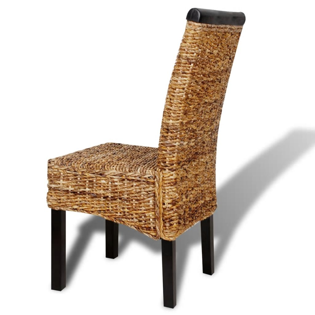 Dining Chairs 6 pcs Abaca and Solid Mango Wood 7