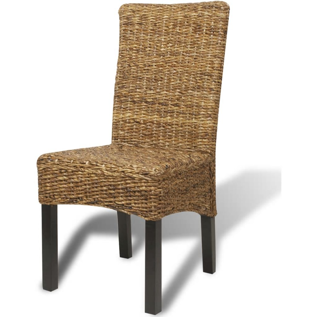 Dining Chairs 4 pcs Abaca and Solid Mango Wood 4