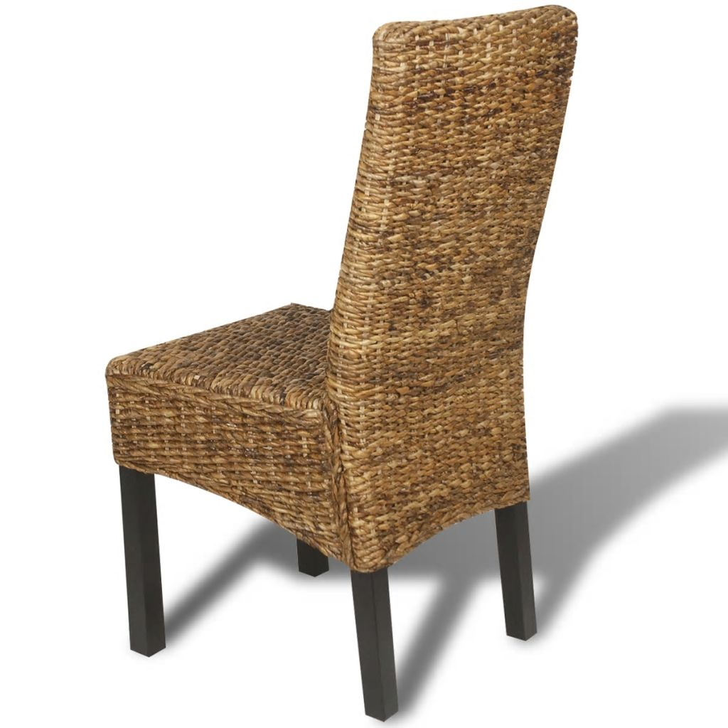 Dining Chairs 4 pcs Abaca and Solid Mango Wood 5