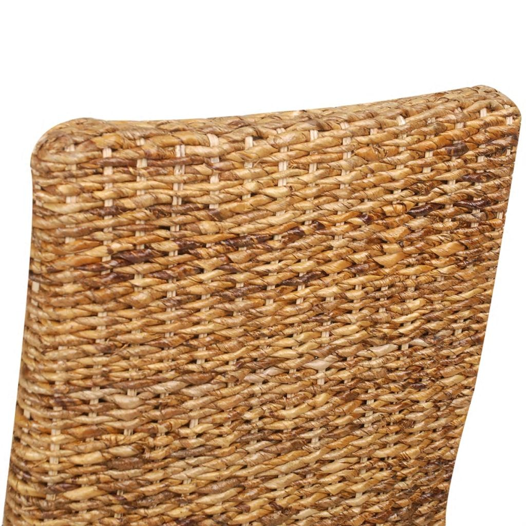 Dining Chairs 4 pcs Abaca and Solid Mango Wood 6