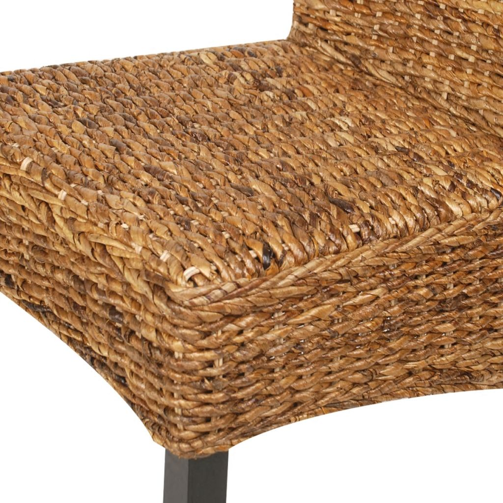 Dining Chairs 4 pcs Abaca and Solid Mango Wood 7