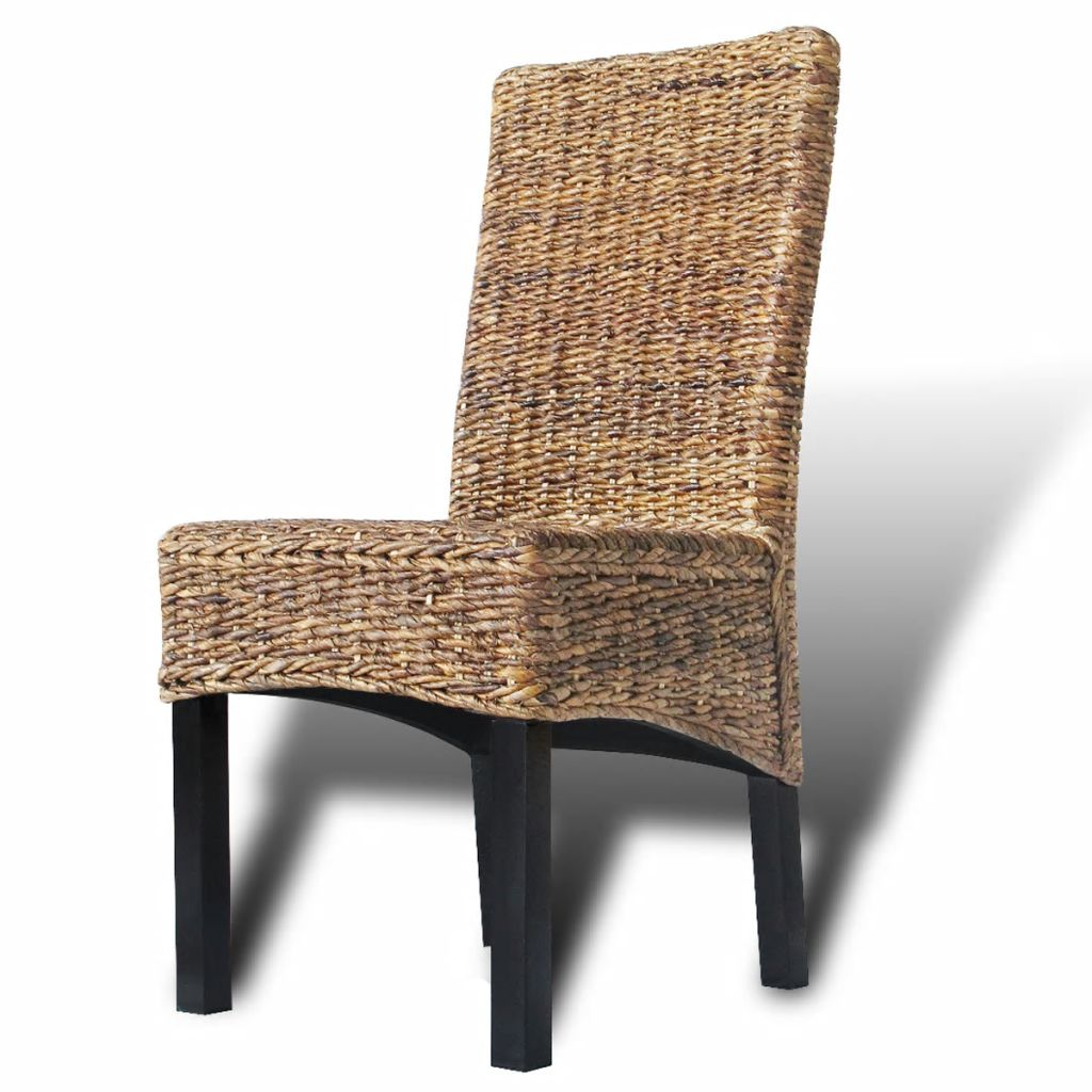 Dining Chairs 4 pcs Abaca and Solid Mango Wood 8