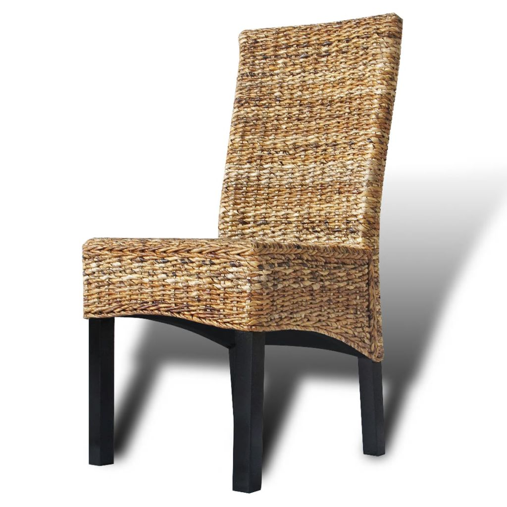 Dining Chairs 4 pcs Abaca and Solid Mango Wood 9