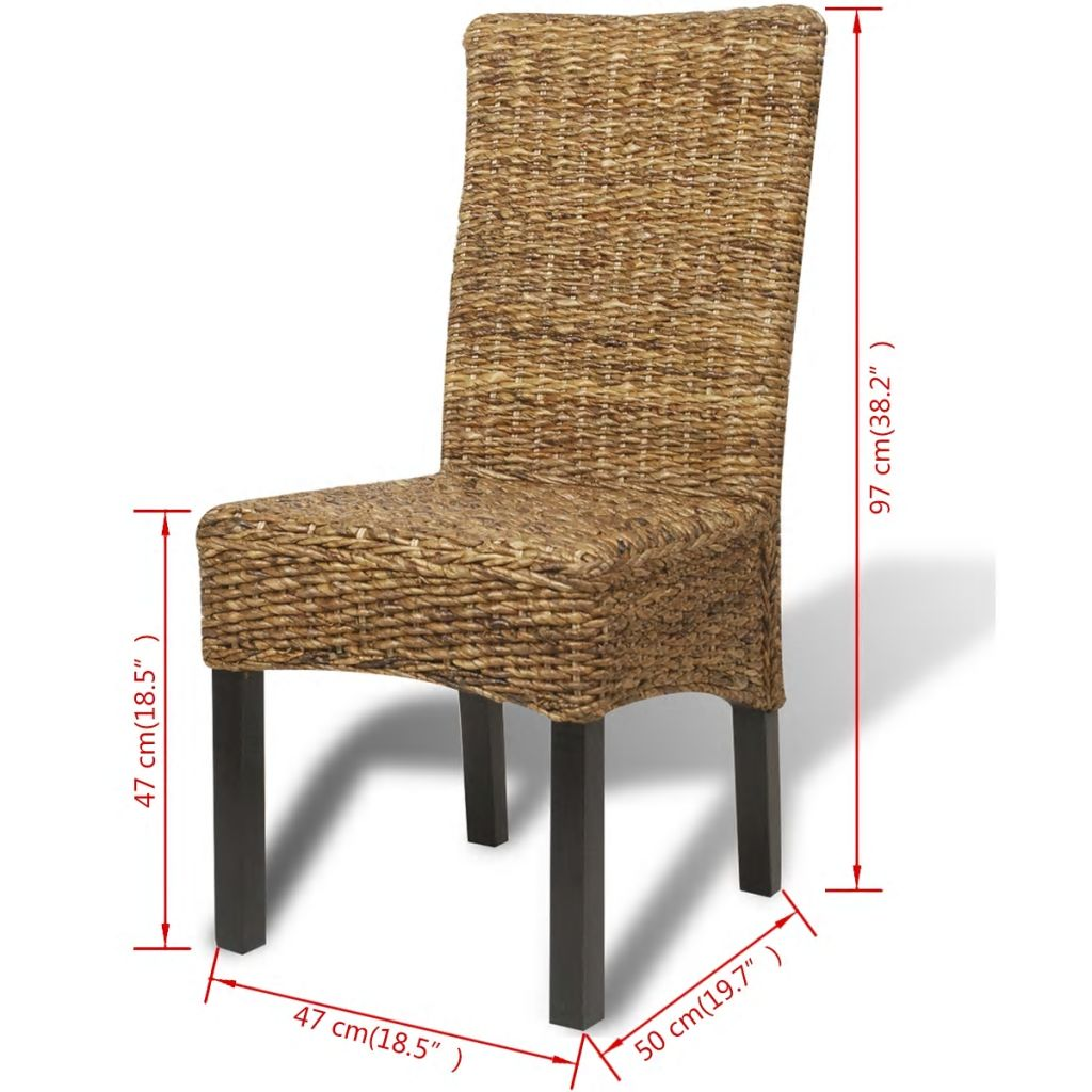 Dining Chairs 4 pcs Abaca and Solid Mango Wood 10