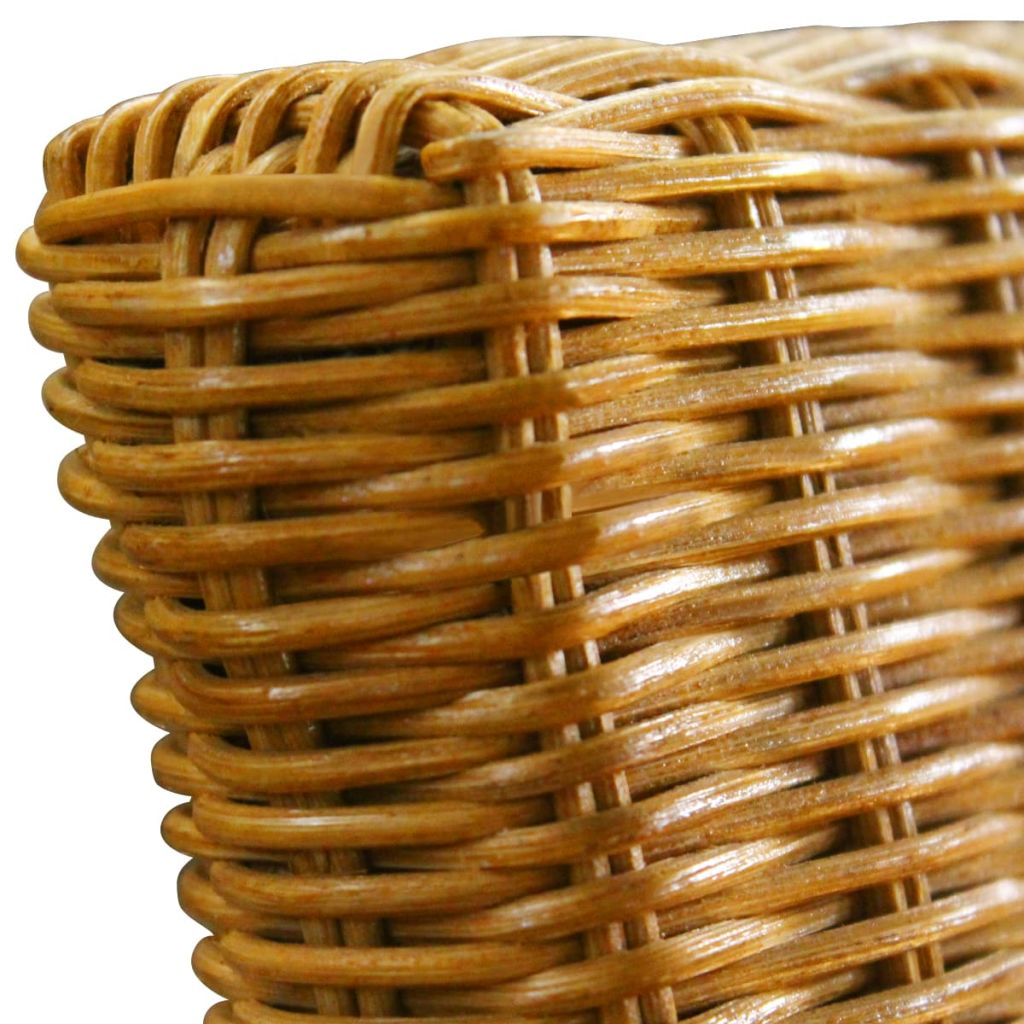 Dining Chairs 4 pcs Brown Natural Rattan 6
