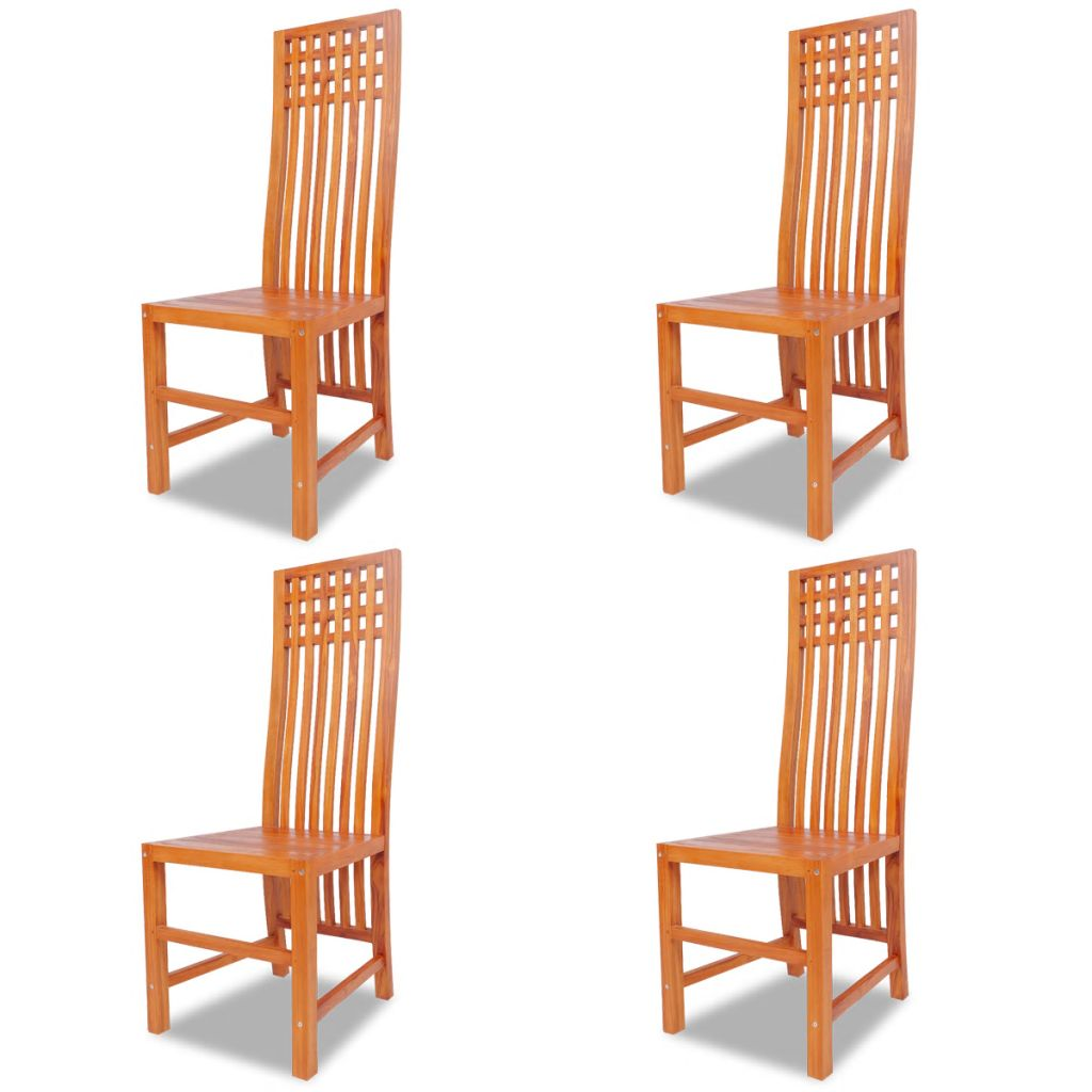 Dining Chairs 4 pcs Solid Teak