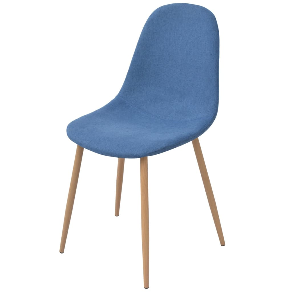 Dining Chairs 6 pcs Blue Fabric 2