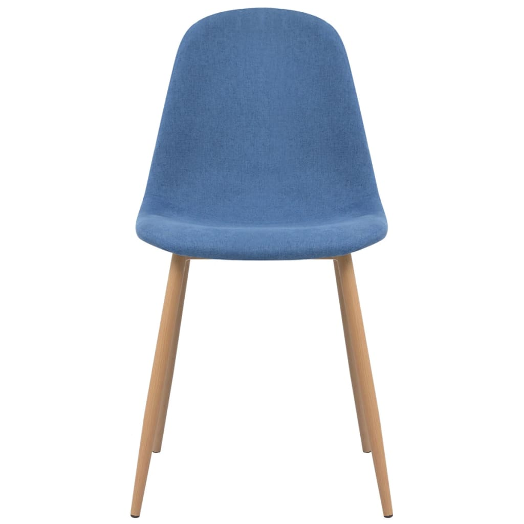 Dining Chairs 6 pcs Blue Fabric 3