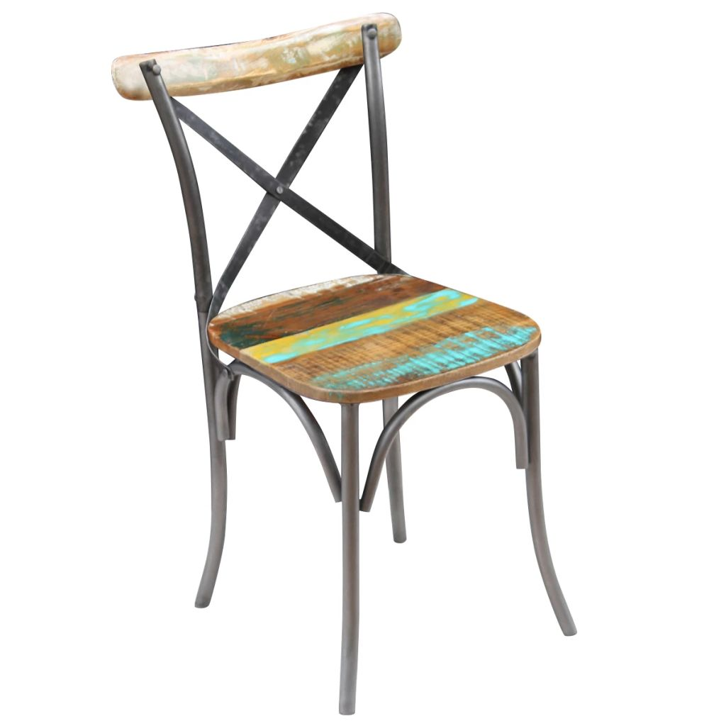 Dining Chairs 6 pcs Solid Reclaimed Wood 4