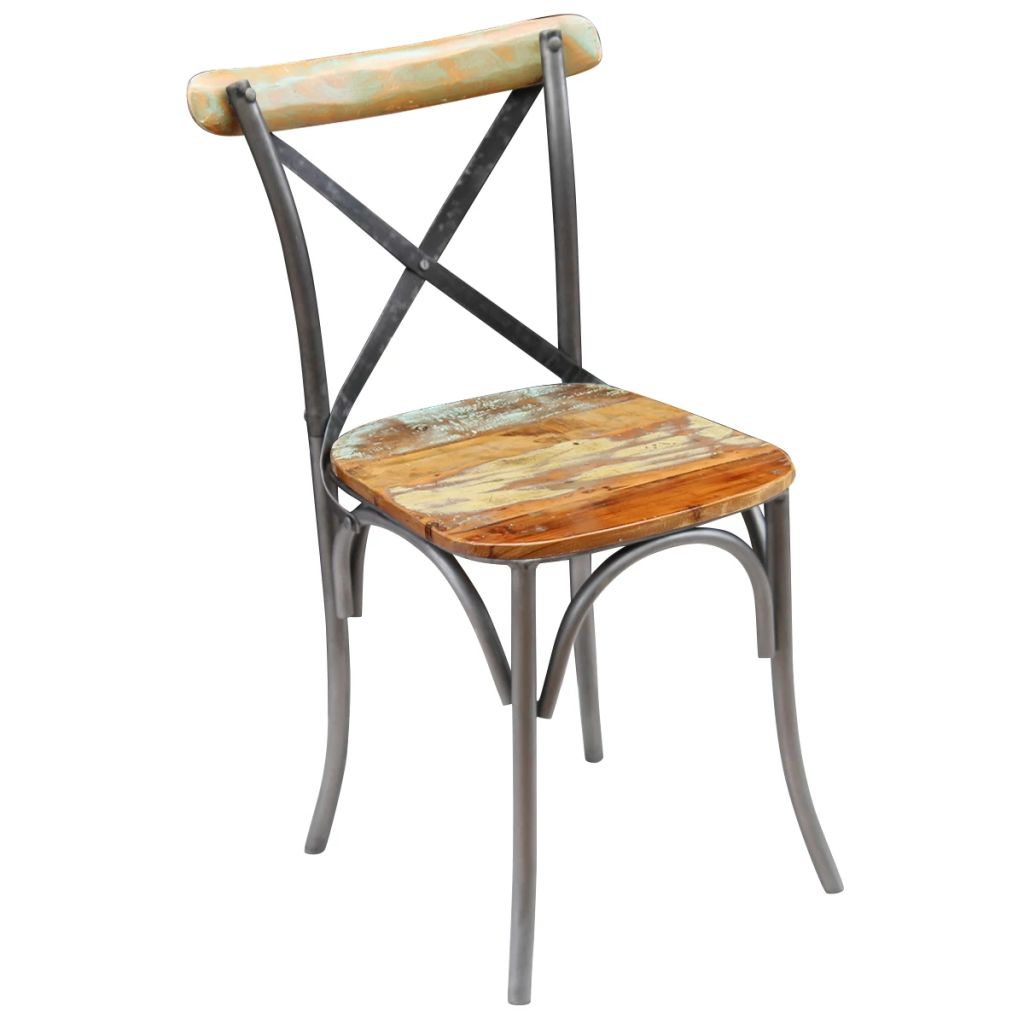 Dining Chairs 6 pcs Solid Reclaimed Wood 5