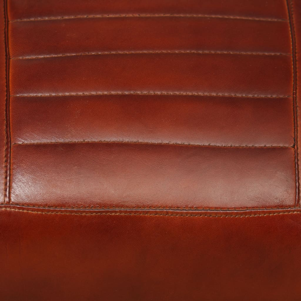 Lounge Chair Brown Genuine Leather 2