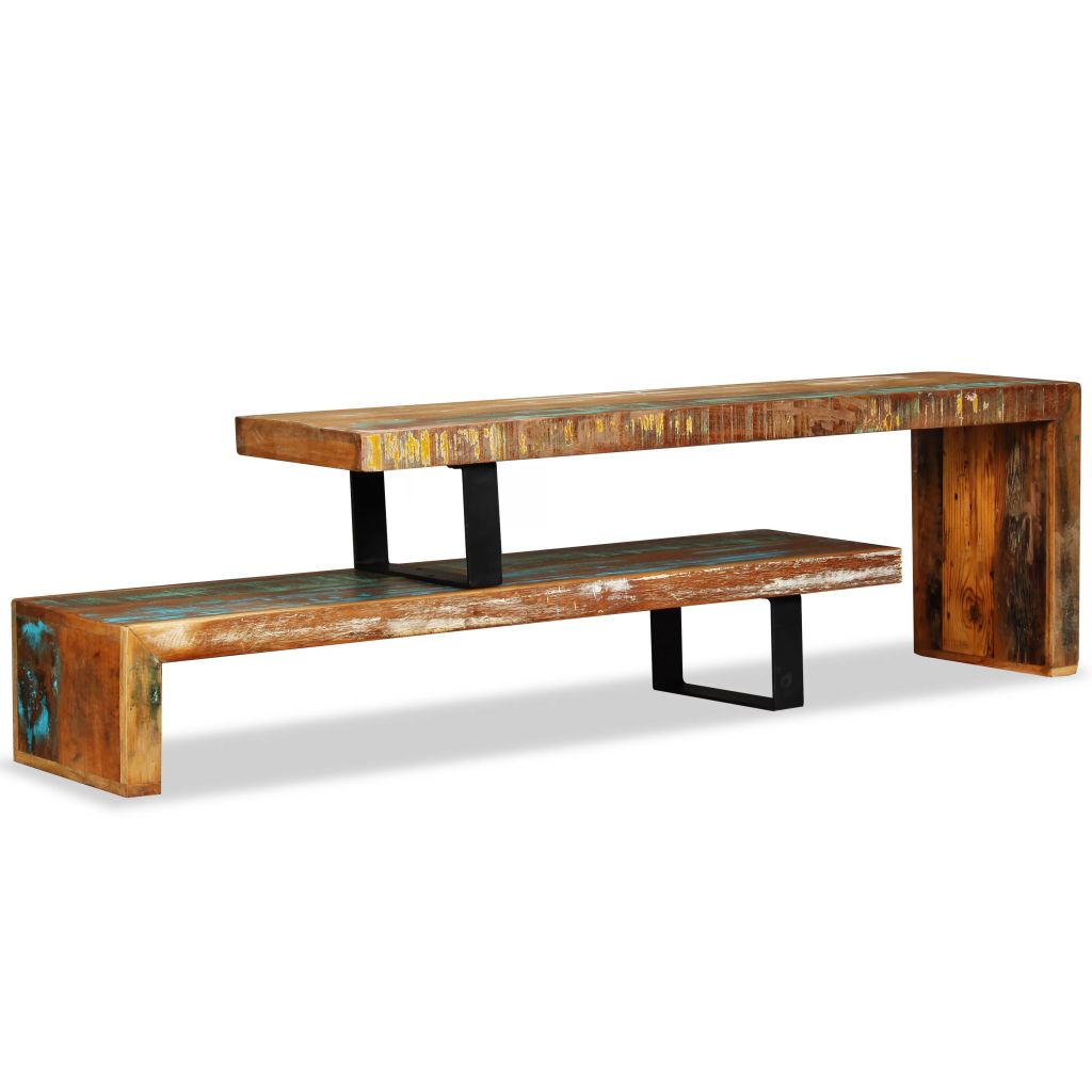 TV Stand Solid Reclaimed Wood 2