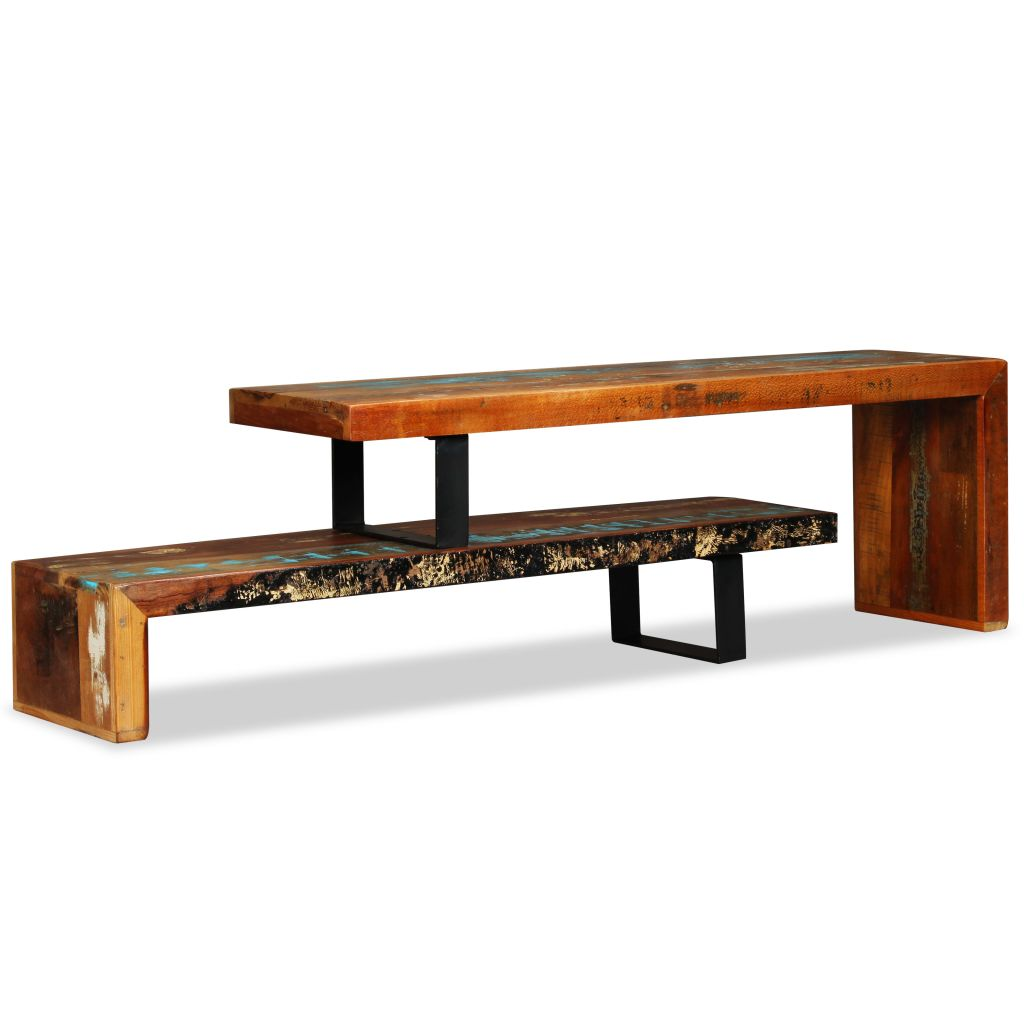 TV Stand Solid Reclaimed Wood 3