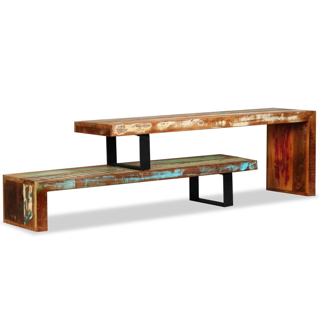 TV Stand Solid Reclaimed Wood 5