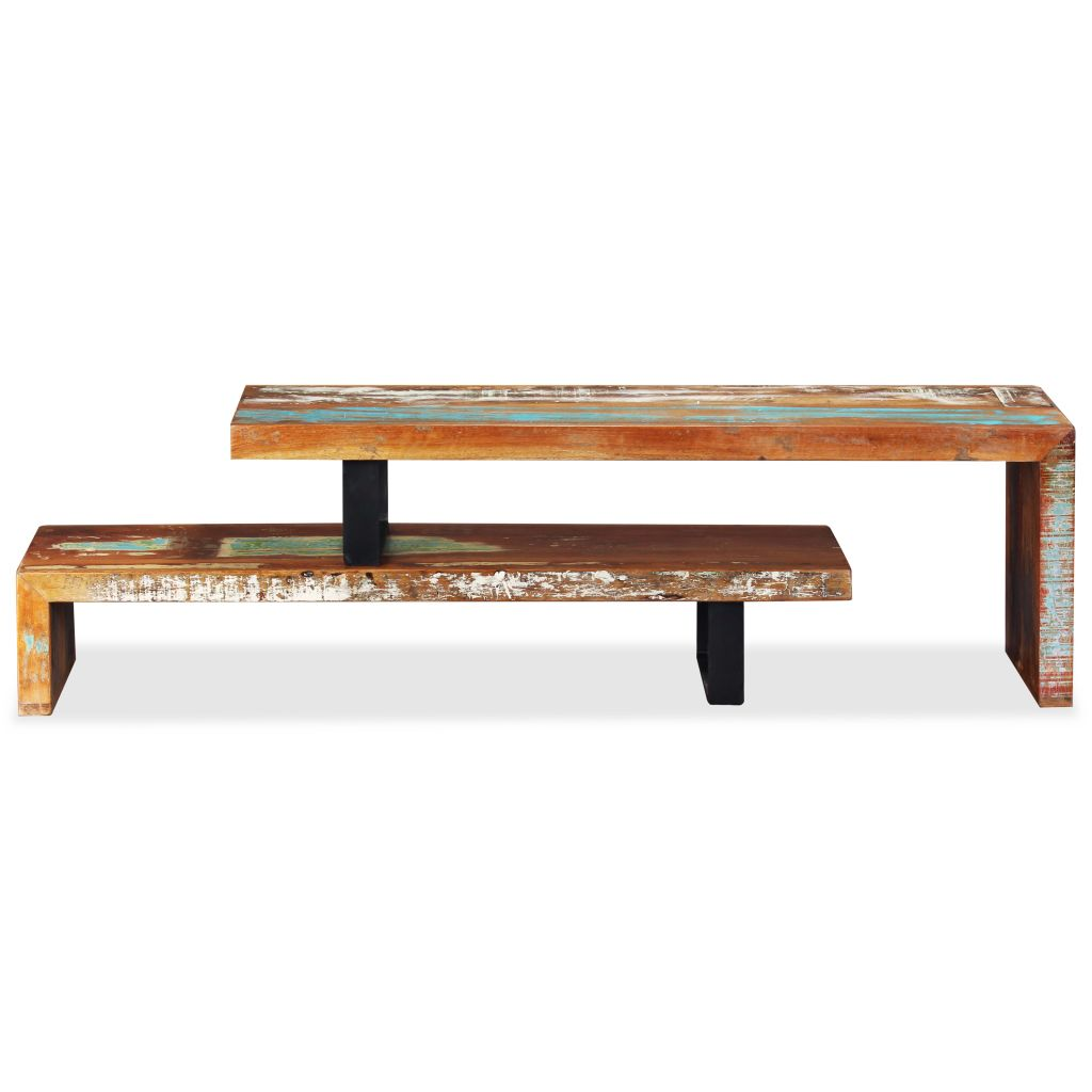 TV Stand Solid Reclaimed Wood 6