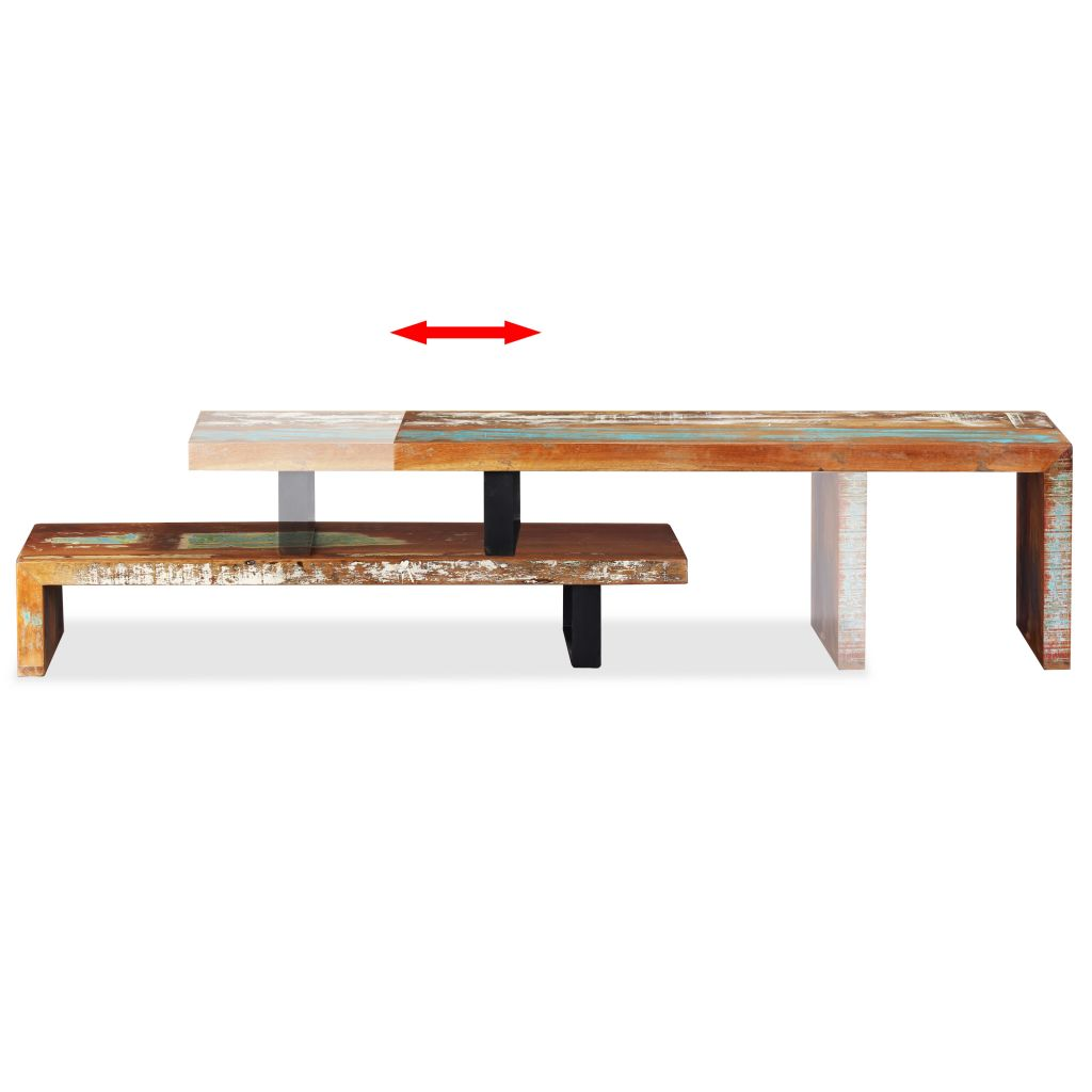 TV Stand Solid Reclaimed Wood 7