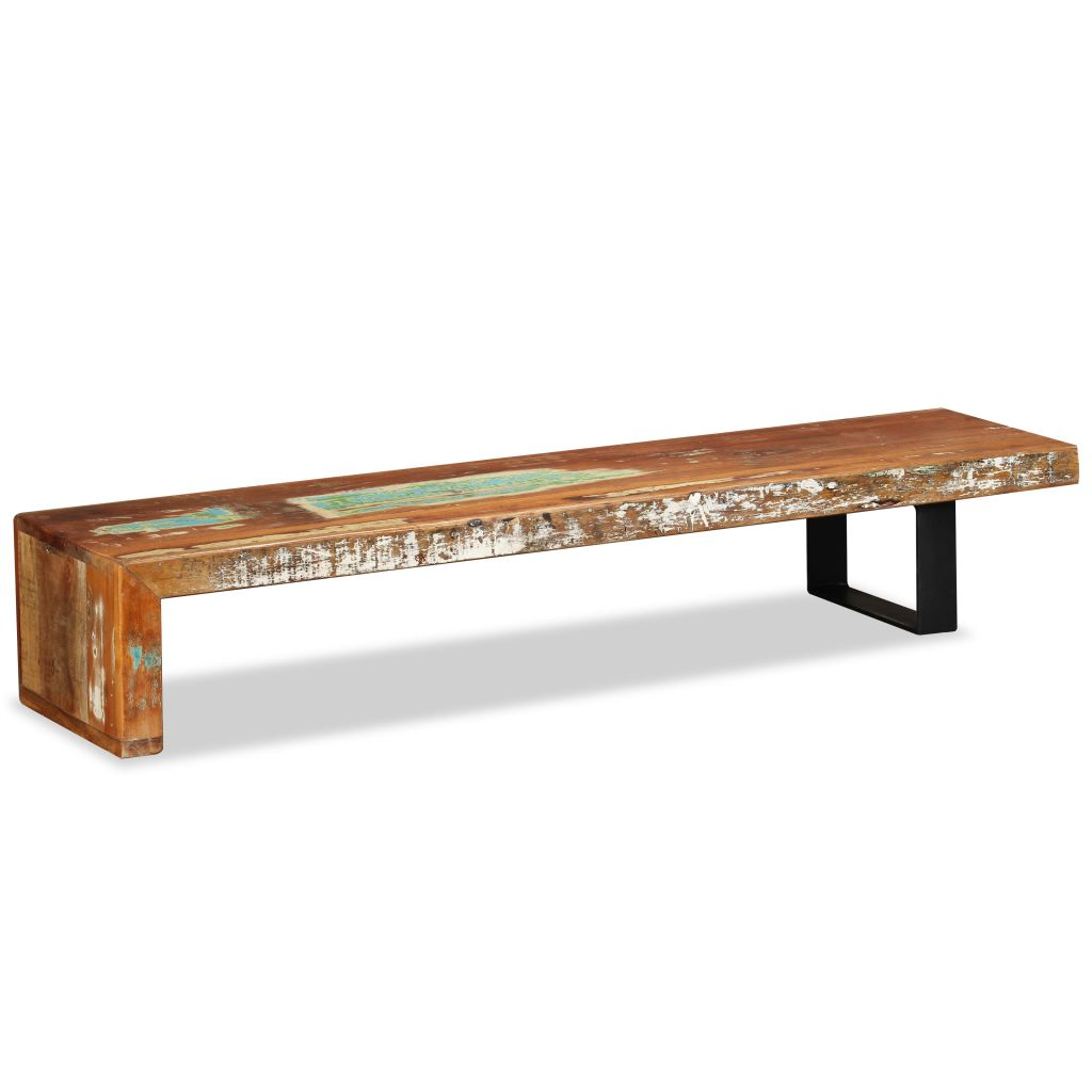 TV Stand Solid Reclaimed Wood 8