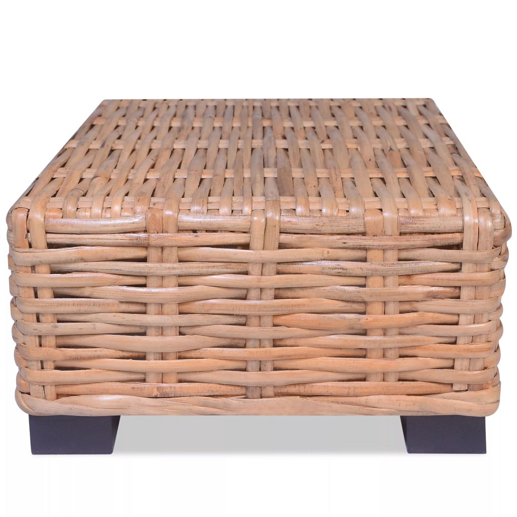Coffee Table Natural Rattan 45x45x30 cm 1