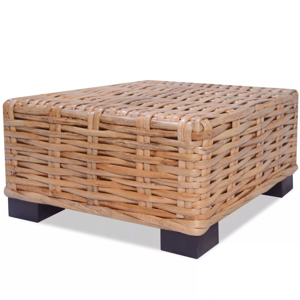 Coffee Table Natural Rattan 45x45x30 cm 2