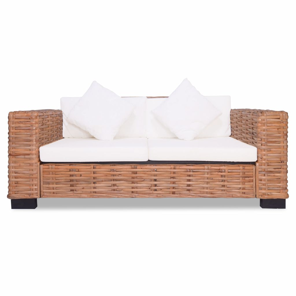 2-Seater Sofa Natural Rattan 3