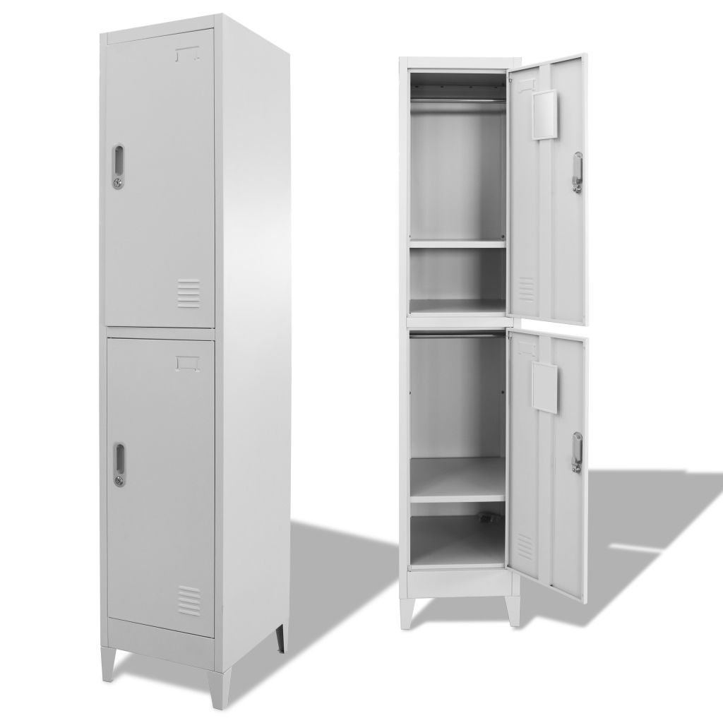 Locker Cabinet with 2 Compartments 38x45x180 cm 1