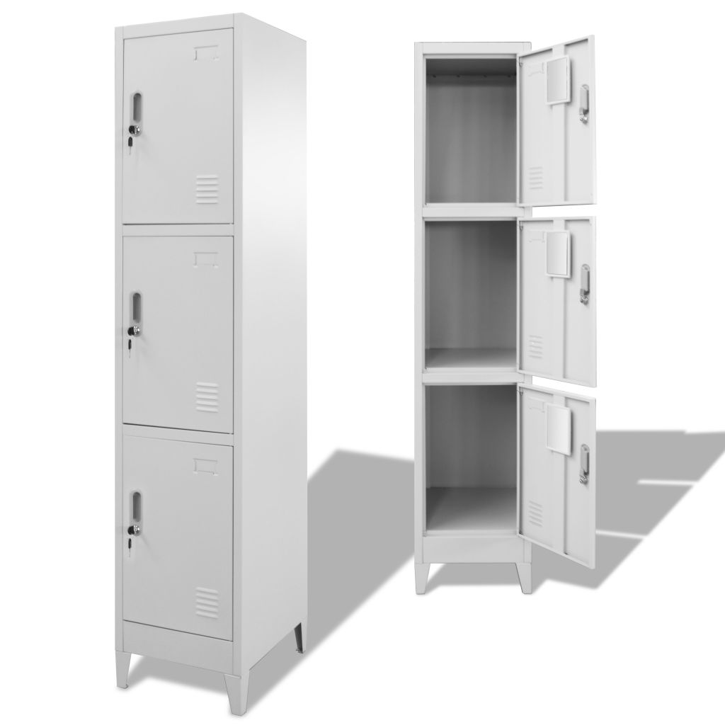 Locker Cabinet with 3 Compartments 38x45x180 cm 1