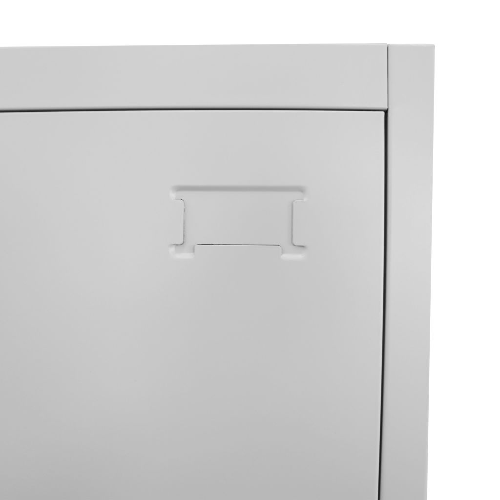 Locker Cabinet with 3 Compartments 38x45x180 cm 5